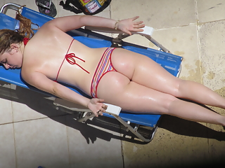 Beach sexy bikini asses