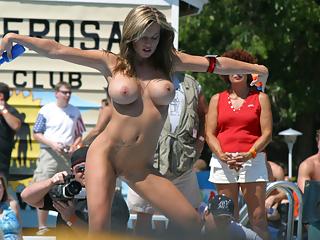 Public nude show