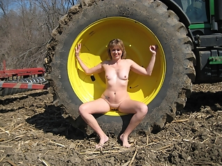 Girls naked in the farm
