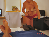 My mom caught naked in hotel