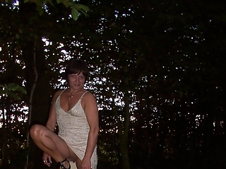 Tied up in the forest