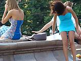 Russian Models Upskirt