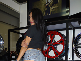 Sexy latina in tight clothes