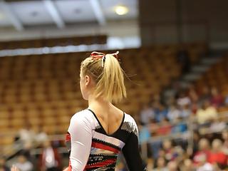 Sexy gymnastic teen