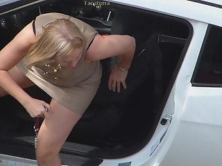 Lady out of the car