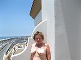 Flashing on a hotel balcony
