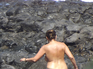 Sexy Mom Beach Topless