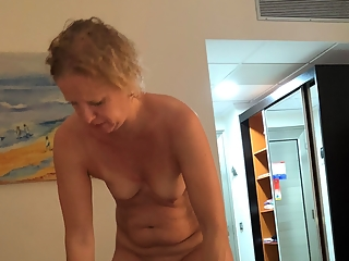 Wife getting dressed