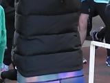 Hottie in running leggins