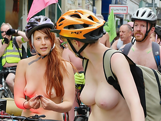 Naked women and bicycles