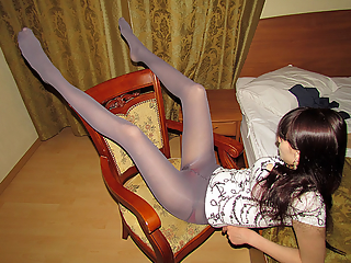 Teens in pantyhose and upskirt