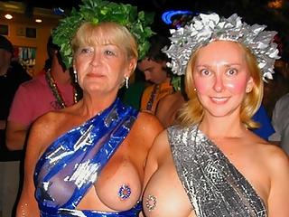 Mardi gras exhibitionists