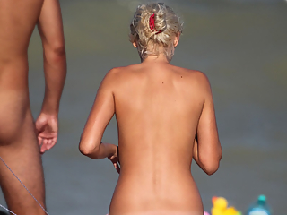 Sexy nudist babes in the beach