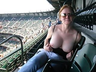 Wild women flashing their tits in public