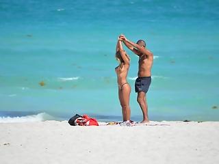 Hot Couple Candid Beach