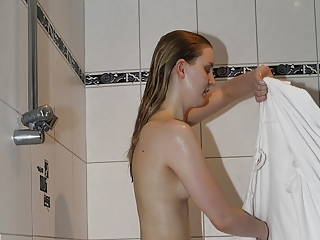 Teens in shower and bathtub