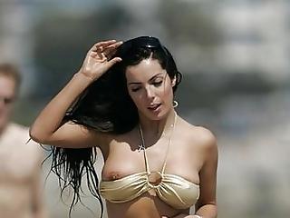 Water slide exposed tit