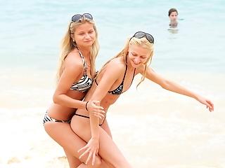 Sexy teens on the beach