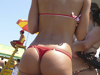 The most beautiful ass in the beach