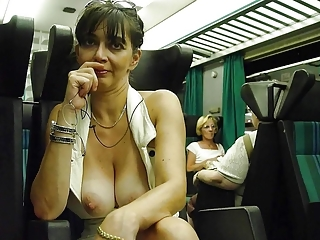 Hot housewives showing off in public