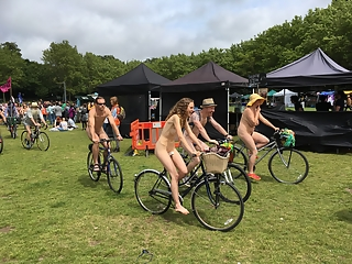 Sexy Alice lushington naked bike riding