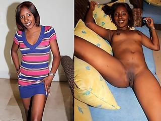 Dressed Undressed Ebony Sluts