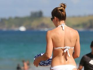 Jessica Biel on the beach