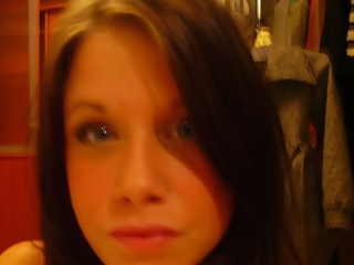 Pretty blue eyes teen