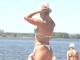 Sexy milf on the beach