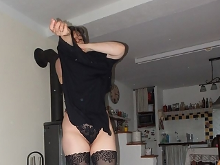 Mature brunette in lingerie