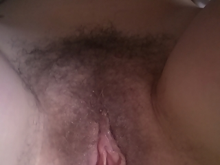Hairy wet pussy wife
