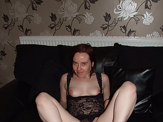 Redhead wife in lingerie