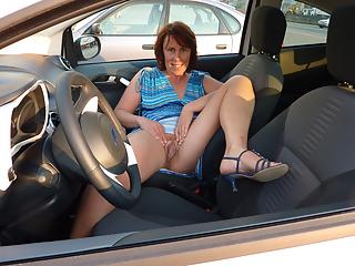 Mature women in cars
