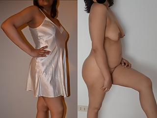 Clothed and unclothed photos