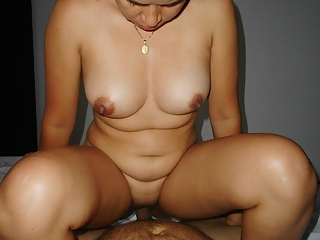 Asian wife rides cock