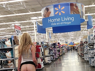 Hot babe flashing at walmart