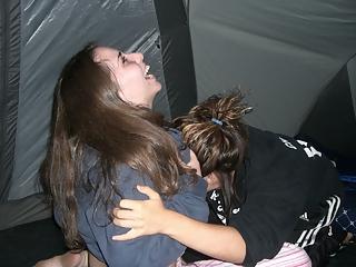 Wild camping teens