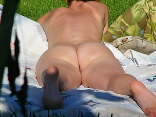 Sunbathing neighbour