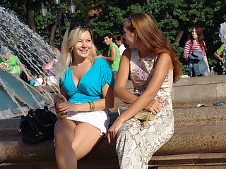 Spy upskirt pictures in a park