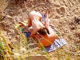 Couples caught on beach