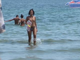 Beach small tits