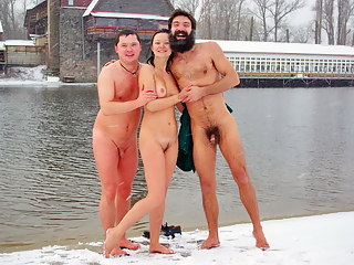 Hot girls naked in the winter