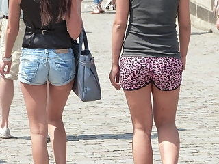 Pretty girls in shorts tails.