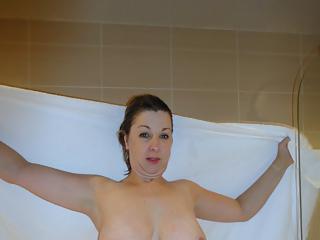Women naked in bathroom