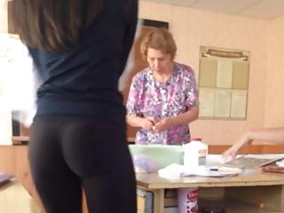 Tight asses at classroom
