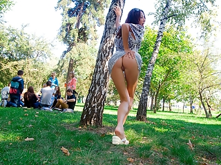 Flashing asses in public