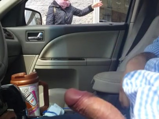 Guy shows dick to woman