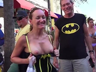 Boob flashing and painted bodies