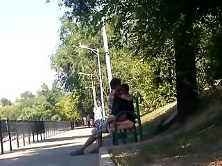 Horny couple public sex