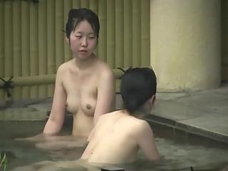 Hairy japanese women in hot tub
